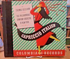 "Sir Thomas Beecham, Capriccio Italien, Columbia 78"" 2 Record Album MX-229 VG+"