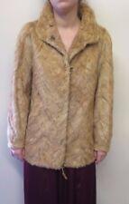 Vintage Genuine Light Brown European Mink Fur coat Jacket M UK 12 Euro 40