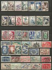 FRANCE un lot de timbres oblitérés /T206