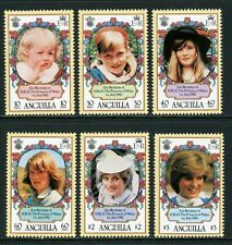 Anguilla Scott #485-490 MNH Princess Diana 21st Birthday CV$9+ TH-1