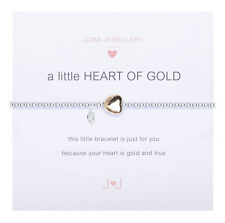Joma Jewellery JJ472 a Little Heart of Gold Silver Plated Bracelet Gift Bag A/w 17