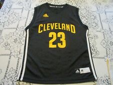 Cleveland Cavaliers Lebron James #23 Adidas Black Basketball Jersey- Youth Md