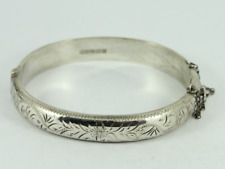 Vintage Hinged Bangle Sterling Silver Ladies Bracelet 925 15g Fy95