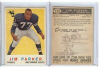 Jim Parker 1959 Topps Rc Rookie Card #132 Colts HOF