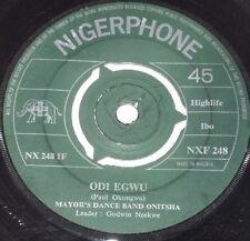 """7""""/MAYOR'S DANCE BAND ONITSHA/ODI EGWU/OYIM AGWALUMIYI/NZEKWE/Nigerphone NXF 248"""