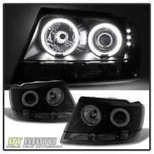 Black Smoked 99-04 Jeep Grand Cherokee CCFL Halo Projector Headlights 1999-2004