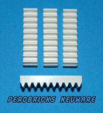 Lego Technic Technik 4x Zahnstange/Zahnschiene weiss/ 1x4 #3743 (NEU)