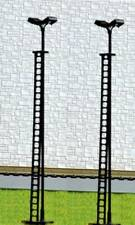 2 Sets of Twin Head Yard Lights Cold LED SM44 OO Gauge 12/16 Volt