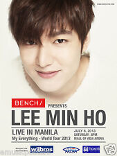 "LEE MIN HO ""LIVE IN MANILA"" 2013 PHILIPPINES CONCERT TOUR POSTER - K-pop Music"
