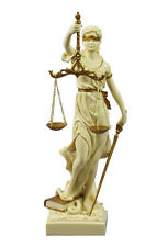 Lady Justice Statue or Goddess of Justice Themis in Cream and Gold #WU71832AH
