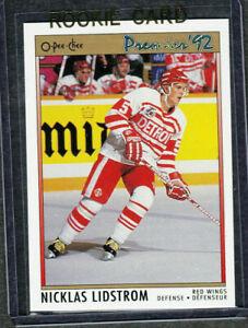 1991-92 OPC Premier Rookie RC #117 Nicklas Lidstrom Detroit Red Wings