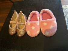 AS NEW Girls Shoes Size AU 6 & 7 **EC** Ballet Slippers Sparkle Winter Toddler