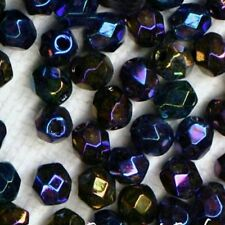 60 FACETTES Cristal de Bohême 4 MM   BLEU IRISE