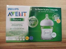 Philips AVENT 4oz Natural Glass Baby Bottle - 3 Pack new
