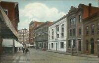 Norwich CT Banker's Row c1910 Postcard