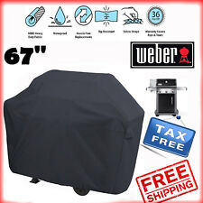 "Weber BBQ Gas Grill Cover 67"" Genesis Spirit Series Outdoor Barbeque Heavy Duty"