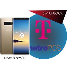 Samsung Galaxy Note 8 T-Mobile MetroPCS SIM Unlock Remote Service INSTANT!
