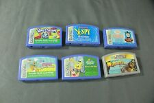 Lot of 6, Leapster Games Spongebob, Scooby Doo, Thomas, Madagascar