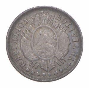 Better Date - 1883 Bolivia 20 Centavos - SILVER *450
