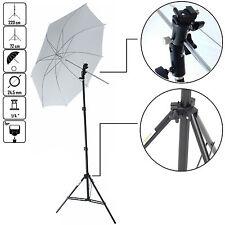 DynaSun KUSF Kit d'éclairage Trépied Douille Parapluie Blanc pour Flash Cobra