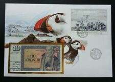 Iceland Motives Typical For Land 1986 Birds Winter FDC (banknote cover) *rare
