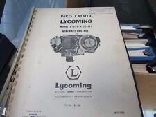 LYCOMING PARTS CATALOG ORIGINAL MODEL O-320-A GOOD SHAPE LOOSE COVER