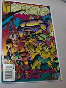 Gargoyles #1 Newsstand High Grade Embossed Cover Marvel Disney Tv 1st issue