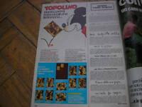 TOPOLINO OPERAZIONE QUACK FRANCOBOLLI METALLO RACCOGLITORE RARA PUBBLICITA' 1973
