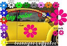 LARGE FLOWER Set 1- 12 inch 3 decals Hot Pink Daisy CAR TRUCK VAN hood vw USA