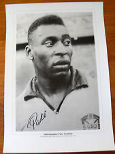 LARGE A2 SIGNED BY PELE WORLD CUP PORTRAIT RARE COA PROOF PRIVATE SIGNING