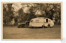 Great 1920s RPPC Postcard Fancy early Trailor & Auto