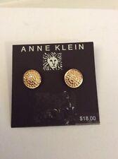 Anne Klein Gold Tone Disk Earrings  $18 Item 112 (2)