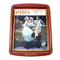 Vintage Norman Rockwell Tray Collectors Series Saturday Evening Post After Prom