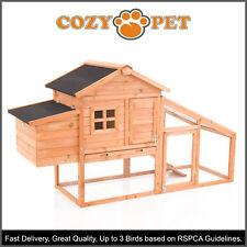 Chicken Coop Cozy Pet Deluxe Hen House Poultry Ark Rabbit Hutch Run Coup CC01S-N