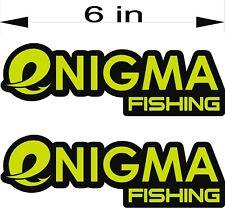 "ENIGMA Fishing Logo / PAIR / 6"" Vehicle Vinyl Lures Decal Window Stickers"