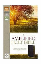 Amplified Holy Bible Bonded Leather Black Indexed: Captures the... Free Shipping