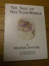The Tale of Mrs. Tiggy-Winkle #6, Beatrix Potter, F. Warne & Co w/DJ c.1971