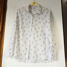 Barbour White Shirt With Blue Dog Design, Relaxed Fit 18