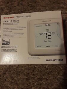 *New* Honeywell TH6320ZW2003 T-6 Z-Wave Thermostat - White