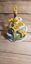 Blue Sky Clayworks Heather Goldminc March Happy Birthday Cake T-Lite Daffodils
