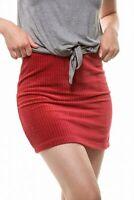 Double Zero Women's Skirt Retro Red Size Large L Corduroy Rib Mini $38- #169