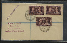 Great  Britain  Morocco 3 coronation stamps on cover          MS0811