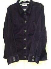 Bnwot Purple Needlecord Jacket With Collar And Double Buttoned Cuffs Size 14.