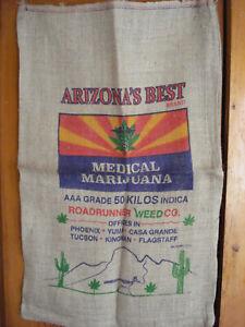 Arizona's Best Brand Cannabis 50 Kilos Medical Marijuana Burlap Sack Bag