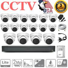 Cctv 16 Channel 1080P 2Tb Hdd Dvr 16 Ir Camera Home Security Surveillance System