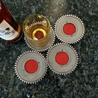 Pratt & Whitney Jet Engine J57 Boeing 707 B52 Bomber Whisky Beer Gear Coasters