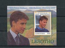 Lesotho 2000 MNH Prince William 18th Birthday 1v S/S Royalty