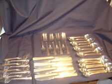 VTG Washington Forge Flatware Stainless with Gold Accents 40 Pieces, Set of 8