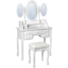 Kosmetiktisch weiß mit 3 Spiegel Hocker Schminktisch Spiegeltisch B-Ware