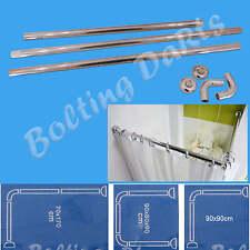 Rideau de douche u & l forme coin rail 3 voies diamètre 28mm track rod pole bath